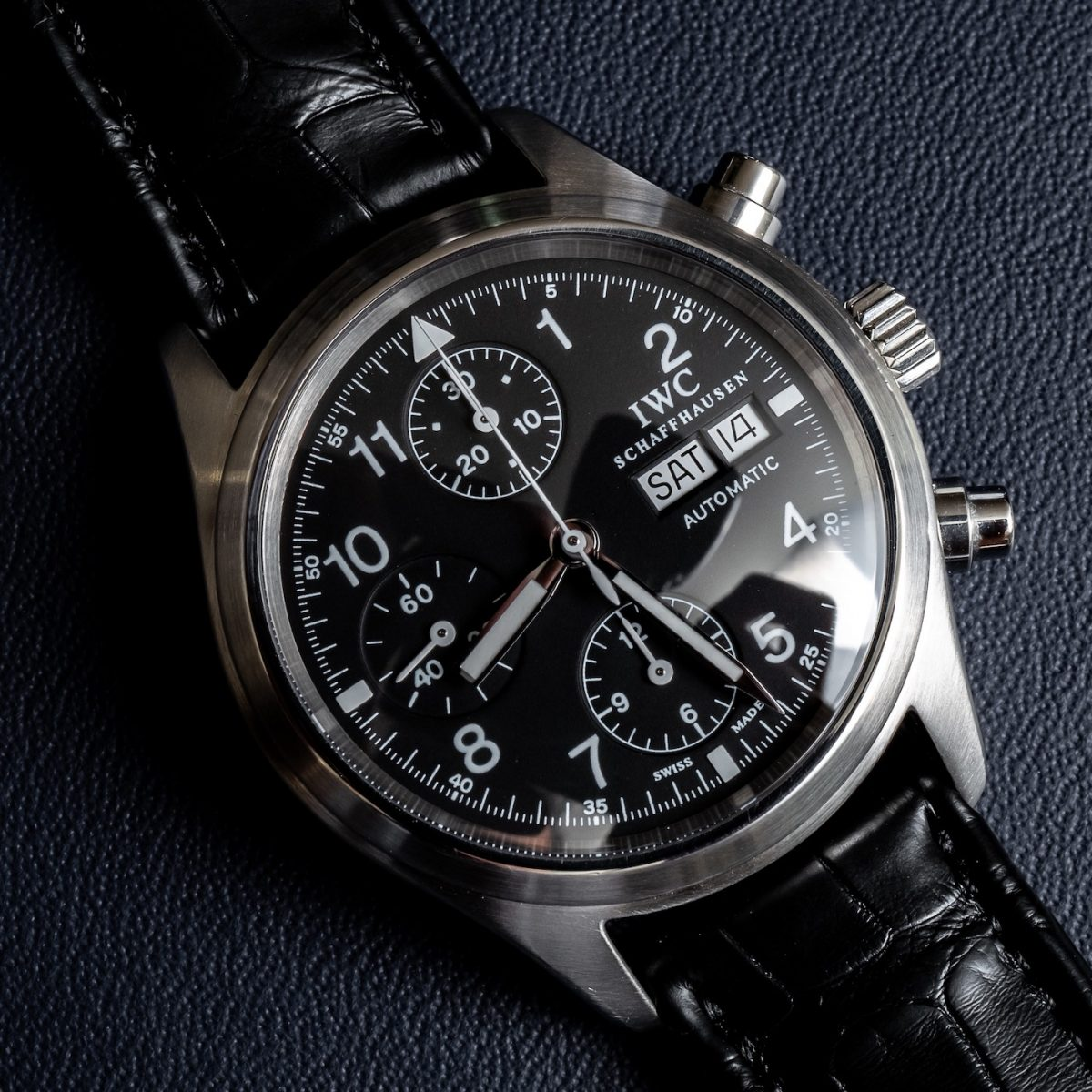 On Hands of AAA  IWC Pilot's Watch Chronograph Ref. 3706 Replica Watch